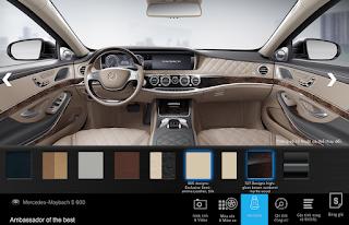 Nội thất Mercedes Maybach S600 2015 màu Vàng Silk (965)