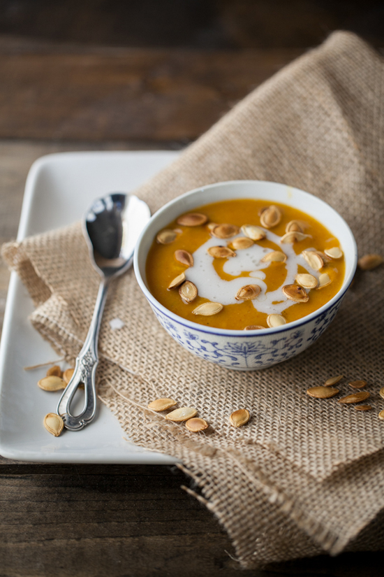 Curried pumpkin and coconut soup recipe by @naturallyella
