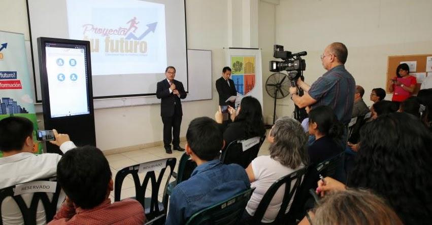 Lanzan aplicativo móvil para ayudar a los jóvenes a planificar su futuro profesional y laboral - www.proyectatufuturo.pe