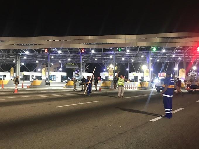 Linha Amarela: prefeitura volta a interromper cobrança de pedágio e retira cancelas