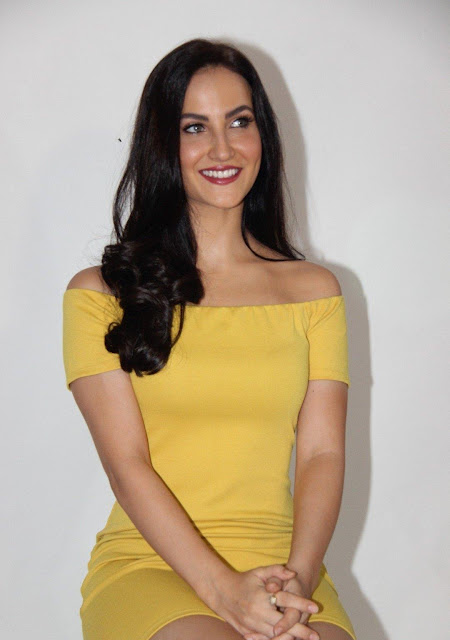 Elli Avram Looks Irresistibly Sexy In Yellow Skirt At Photoshoot By Ace Photographer Faizi Ali