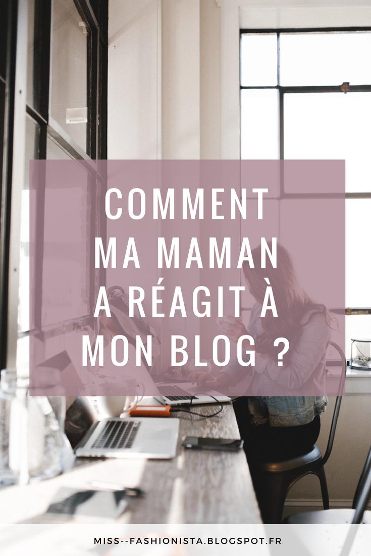 avis de ma maman sur mon blog