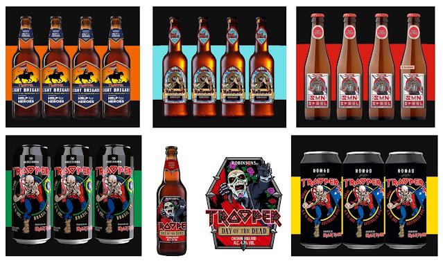 Cervezas de Iron Maiden.