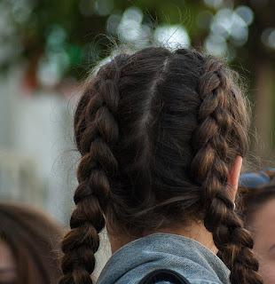 Woman's hair in plaits