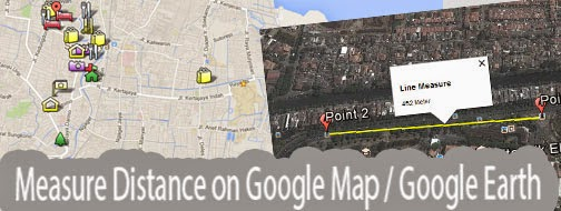 Measure the distance on google map using euclidean and haversine