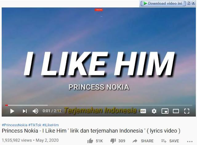 download lagu i like him tiktok princess nokia