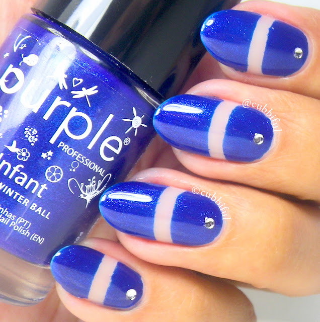 Royal Blue Negative Space Nails
