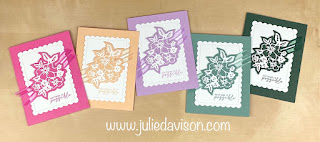 Stampin' Up! 2021-2023 In Color Cards using Penned Flowers and Scalloped Contours Dies ~ www.juliedavison.com #stampinup #incolor