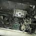 Ônibus que transportava universitários pega fogo novamente na BR 158