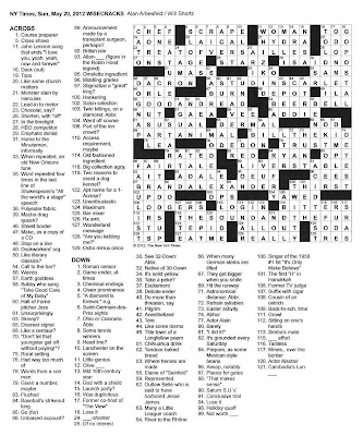 The New York Times Crossword in Gothic: 05.20.12 — Wisecracks