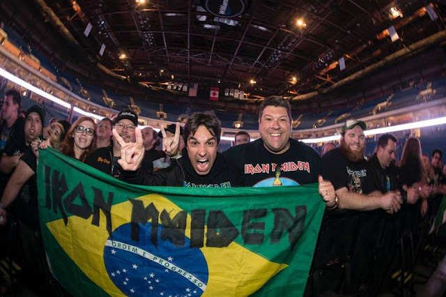 Brasil é o país que mais ouve Iron Maiden no mundo
