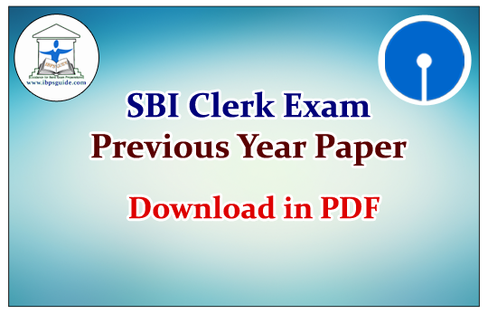 Sbi Clerk Question Paper Pdf