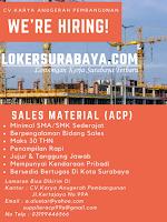 Bursa Kerja Surabaya di CV. Karya Anugerah Pembangunan Surabaya Oktober 2020
