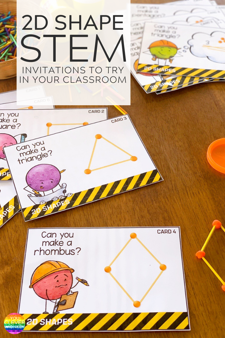 2D SHAPE STEM STRUCTURE CARDS | YOU CLEVER MONKEY