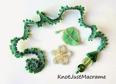Beaded components from Lindsay Starr