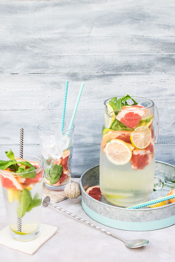 picture showing detox water