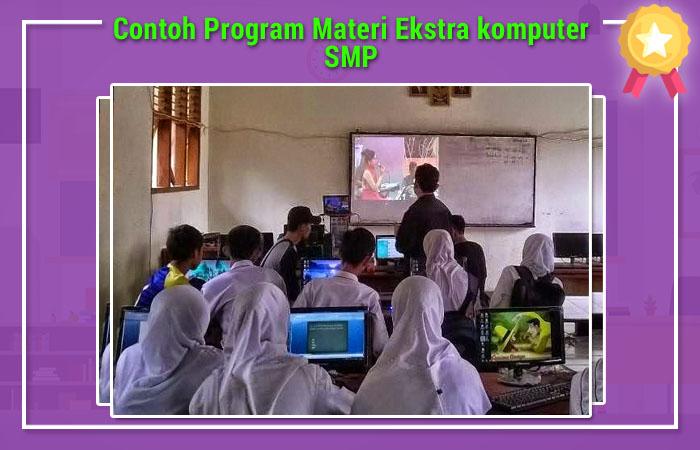 Contoh Program Materi Ekstra komputer SMP