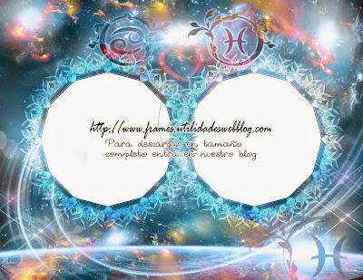 Marcos para fotos de enamorados del signo zodiacal Cancer y Piscis