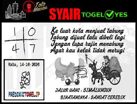 Syair Togel Yes Toto Macau Rabu 14 Oktober 2020