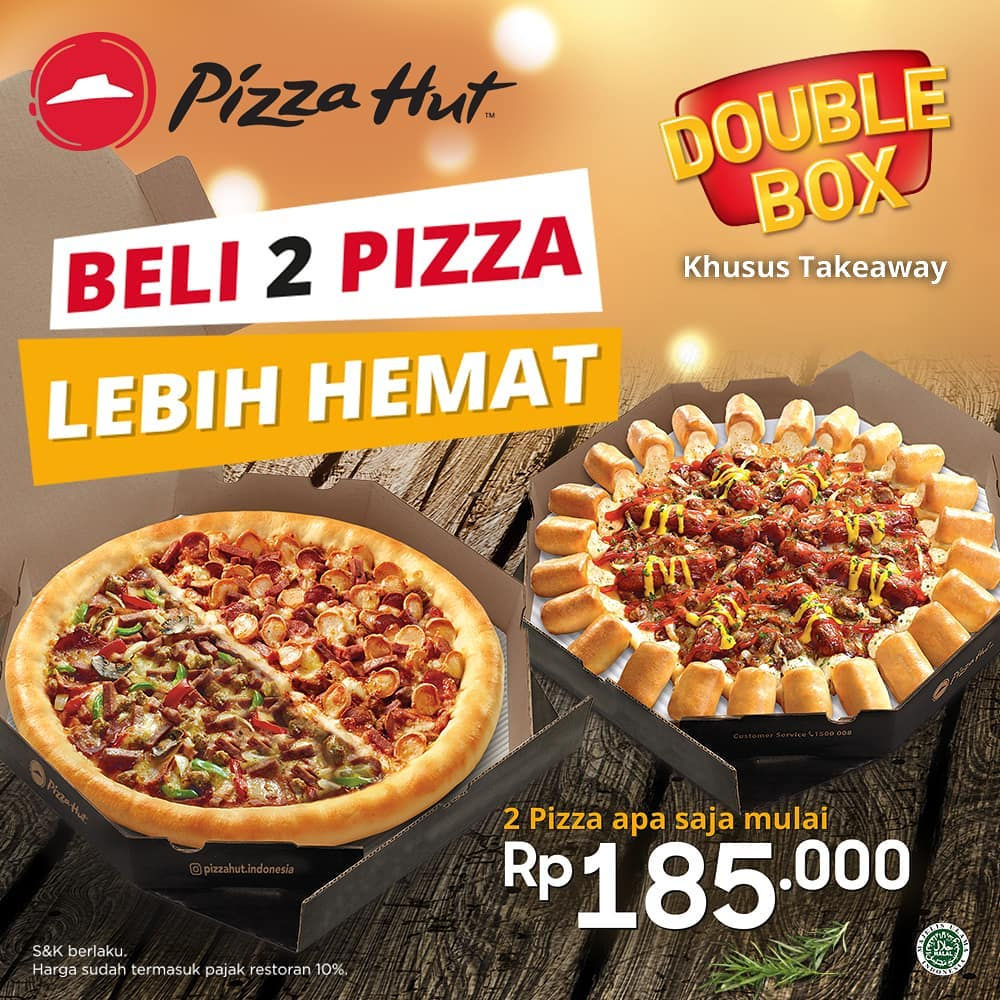 #PizzaHut - #Promo Beli 2 Pizza Lebih Hemat Mulai 185K