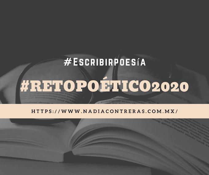 Invitados a formar parte del #RetoPoético2020