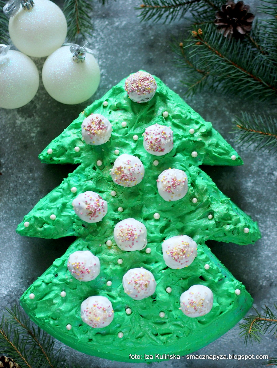 torcik_swiateczny, choineczka, domowe_wypieki, ciasta, zielony_krem, bozenarodzenie