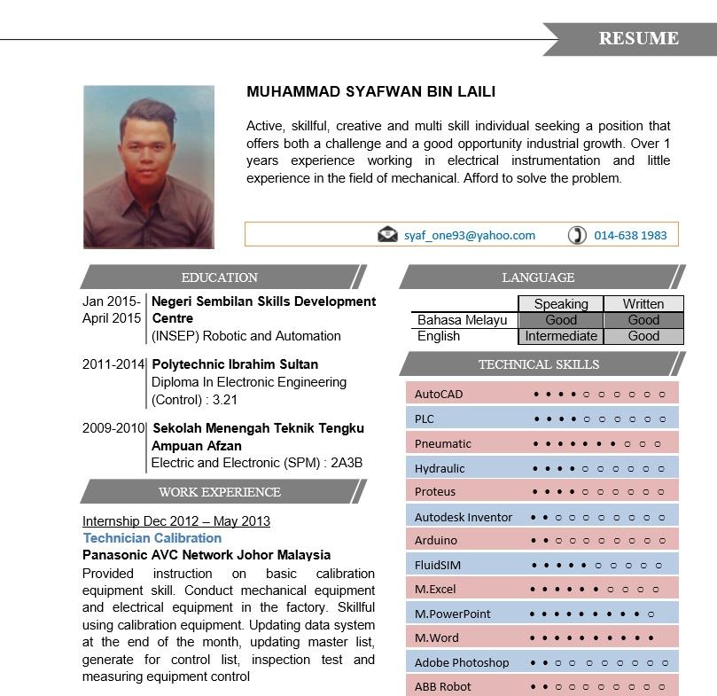 3 Contoh Resume Terbaik Muatturun  Edit  Contoh Resume
