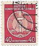 Selo Brasão da Alemanha Oriental