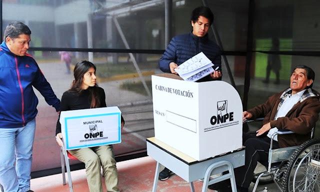 ONPE: Implementarán mesas especiales de sufragio para personas con discapacidad