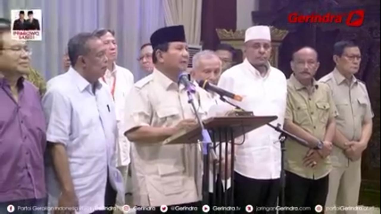 Sebut UBN Dikriminalisasi, Prabowo Paparkan 2 Alasan Kuat