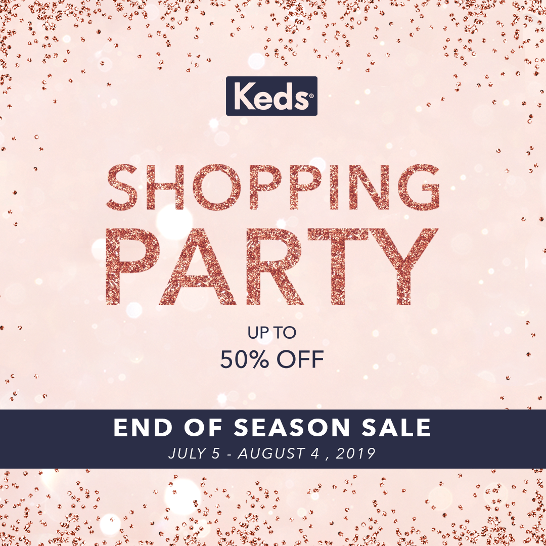 31ef53617 Inviting all to a month of style and great deals, the Keds Shopping Party is  one not to miss. Iconic American sneaker brand is celebrating ...