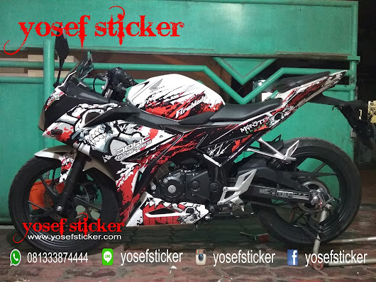 DECAL CBR 150 R FACELIFT PUTIH SKULL