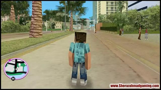 Minecraft Skin For GTA Vice City | GTA Vice City Skins