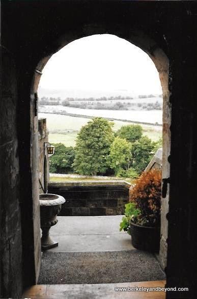 view from Borthwick Castle in Midlothia, Scotland