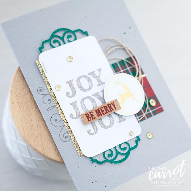 Joy of Giving Tag Kit by Stampin' Up! - Christmas card idea - Susan Wong