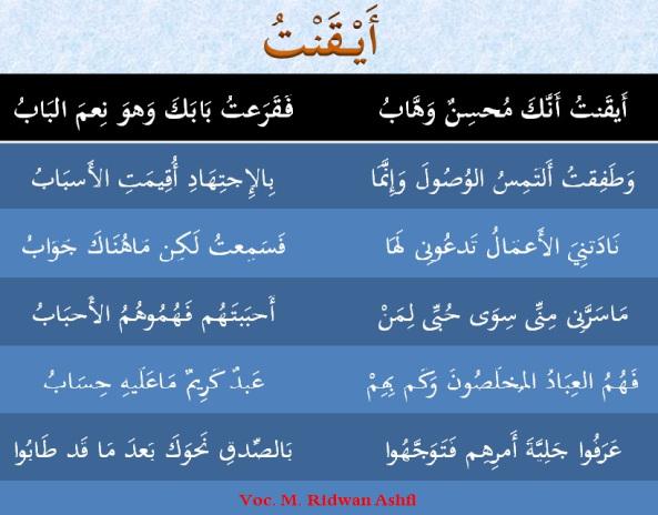 teks lirik aiqontu annak muhsinun wahab