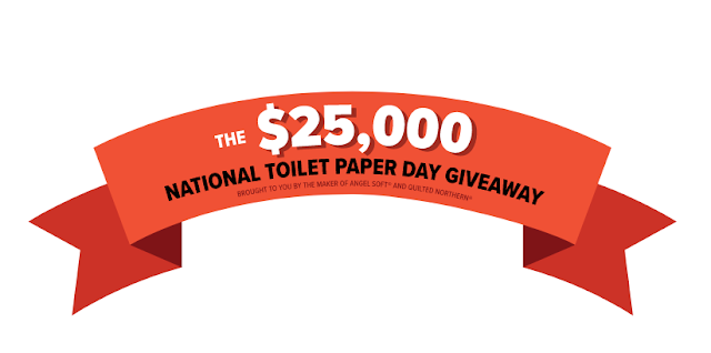The makers of Angel Soft and Quilted Northern are celebrating National Toilet Paper Day by giving everyone a chance to enter to win $25,000 CASH!