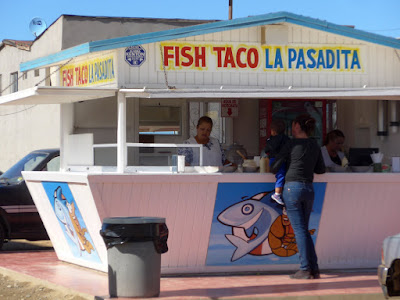 Lots of taco stands along the Mex one highway.