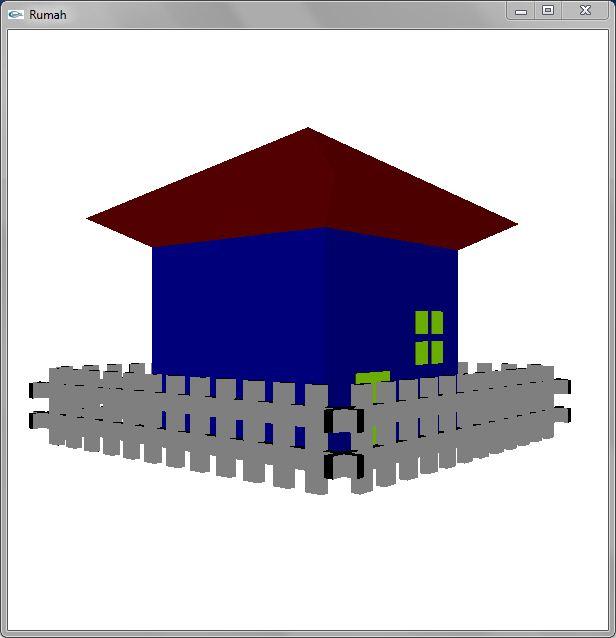 Membuat Rumah 3D Dengan OpenGL