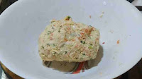 Dough made with vegetables for manchurian recipe