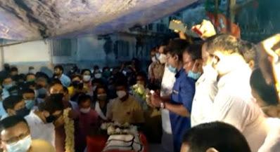 যুবনেতা রাজু সরকারকে চোখের জলে বিদায় জানাল বিজেপি