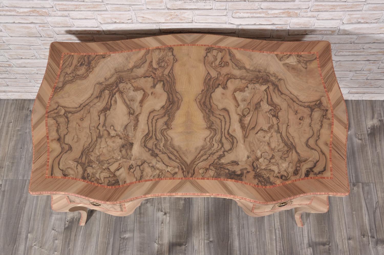 Scrivania In Radica Di Noce.Lussuosa Scrivania Veneziana In Stile 700 Barocco Luigi Xv