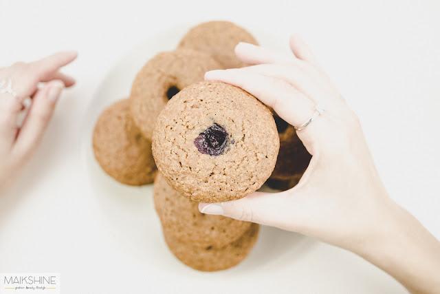 Muffins de arándanos y lima