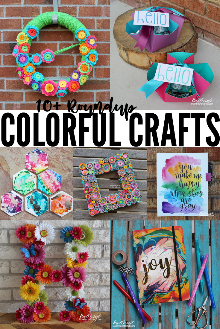 These crafts are colorful and will drive the Winter blues away