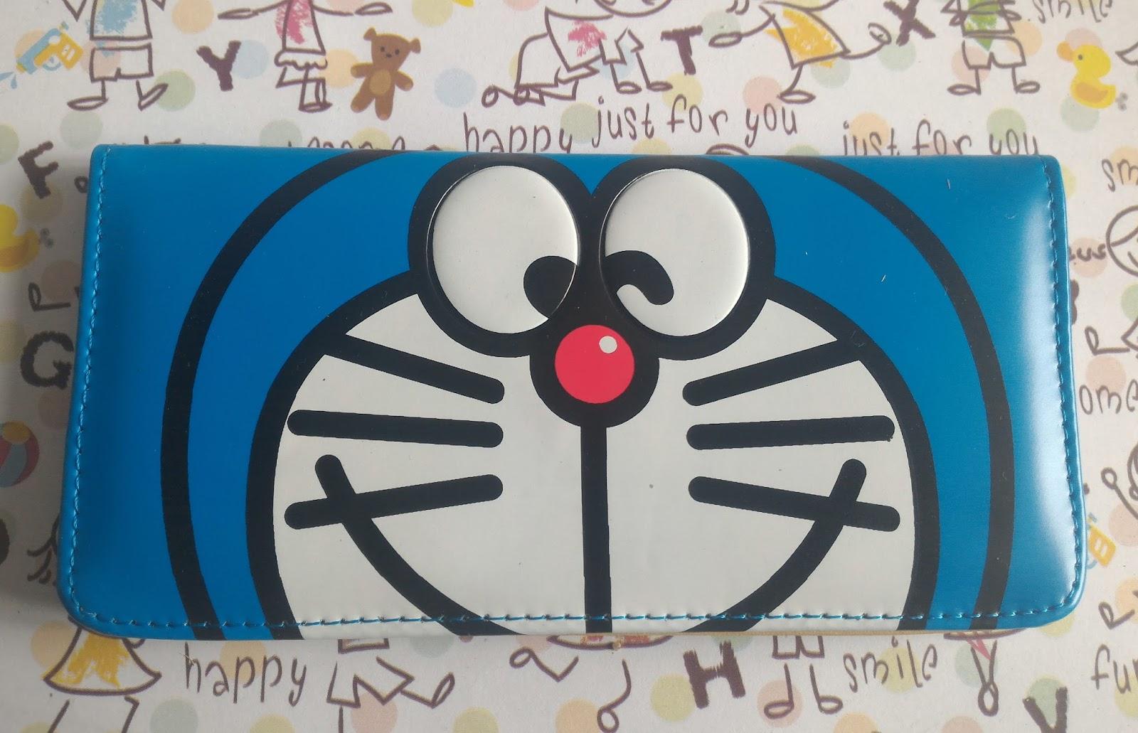 Dompet panjang Doraemon Kancing
