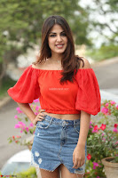 Rhea Chakraborty in Red Crop Top and Denim Shorts Spicy Pics ~  Exclusive 264.JPG