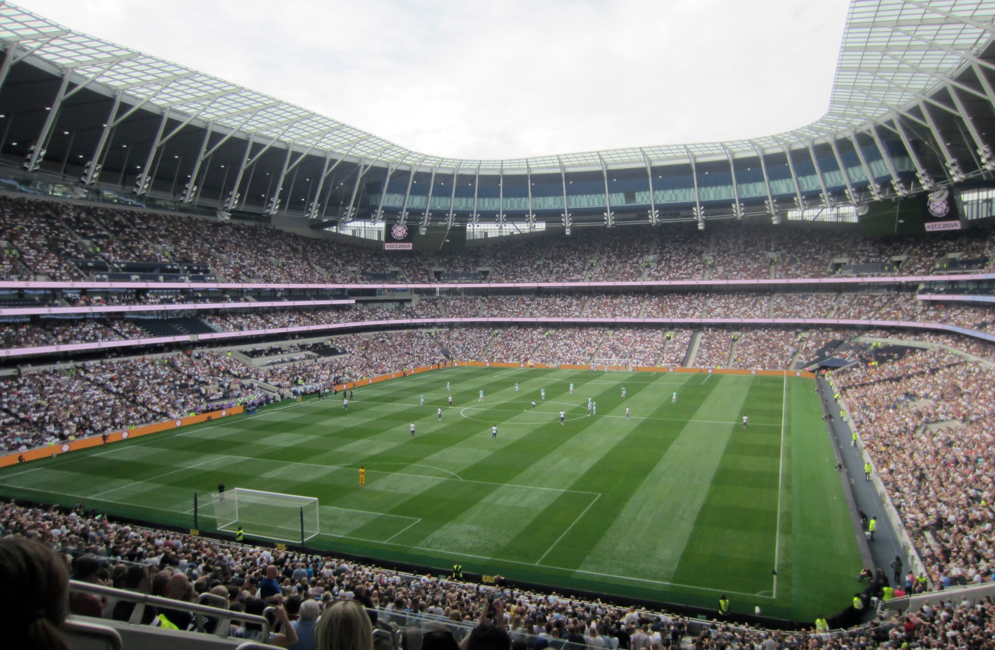 View of the pitch at Tottenham Hotspur Stadium