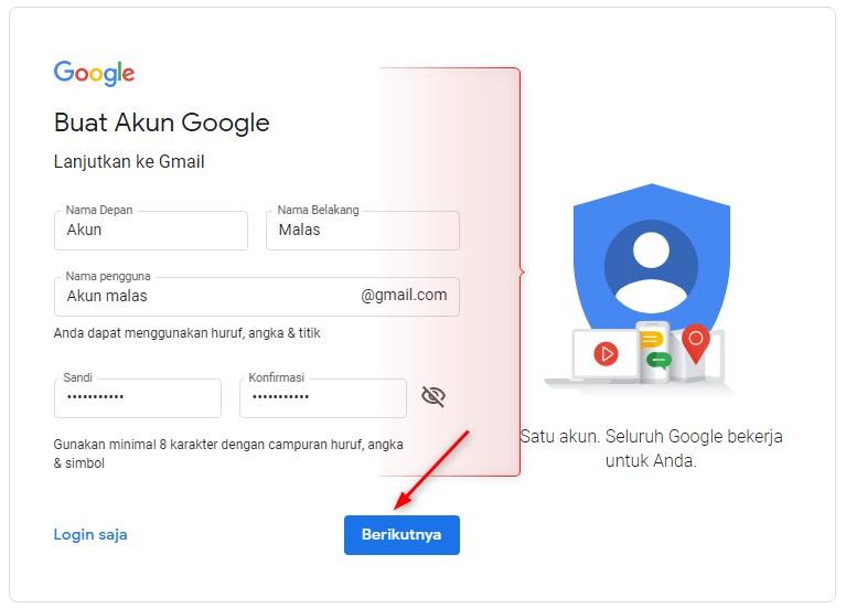Membuat Akun Gmail Tanpa Nomor Telepon di Pc