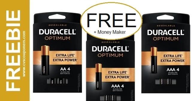 FREE Duracell Batteries CVS Deals