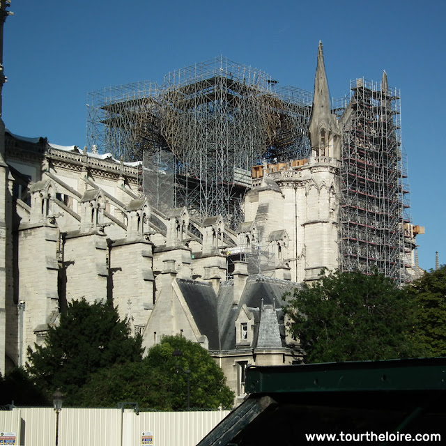Notre-Dame de Paris, 4 months after the fire. Paris. France. Photographed by Susan Walter. Tour the Loire Valley with a classic car and a private guide.